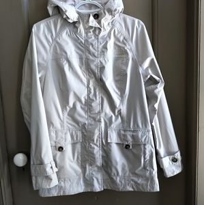 North face short trench coat.
